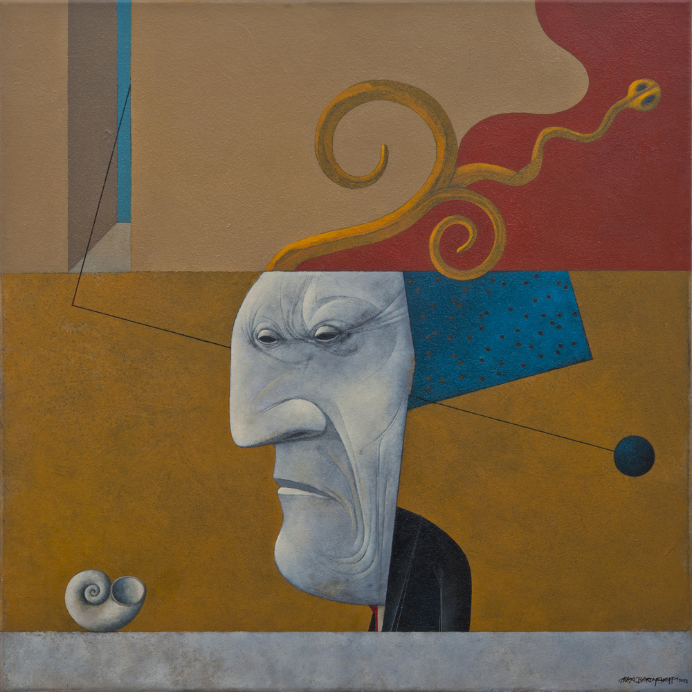 Perception of Emptiness, oil on canvas, 85x85 cm, 2013