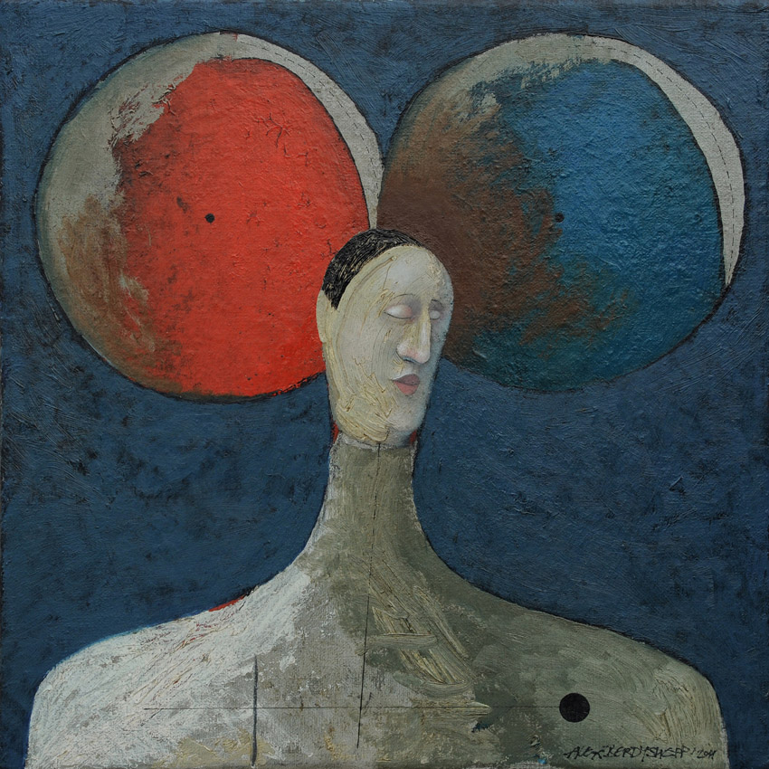Meditation, oil on canvas, 46x46 cm, 2011