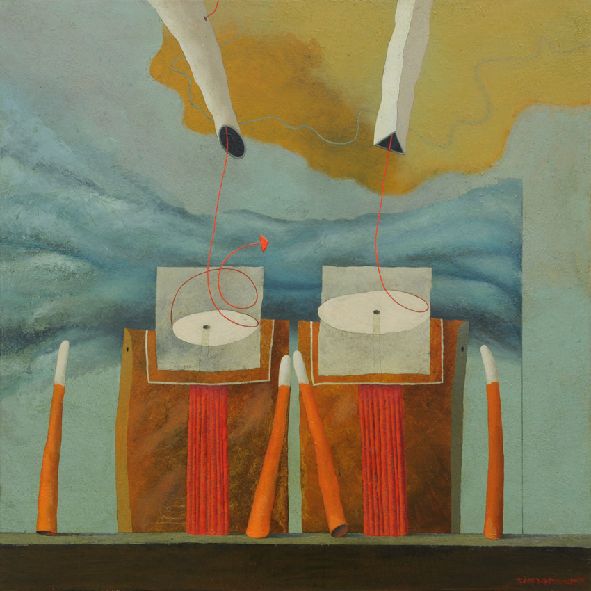 Rhetorical Question, oil on canvas, 85x85 cm, 2011