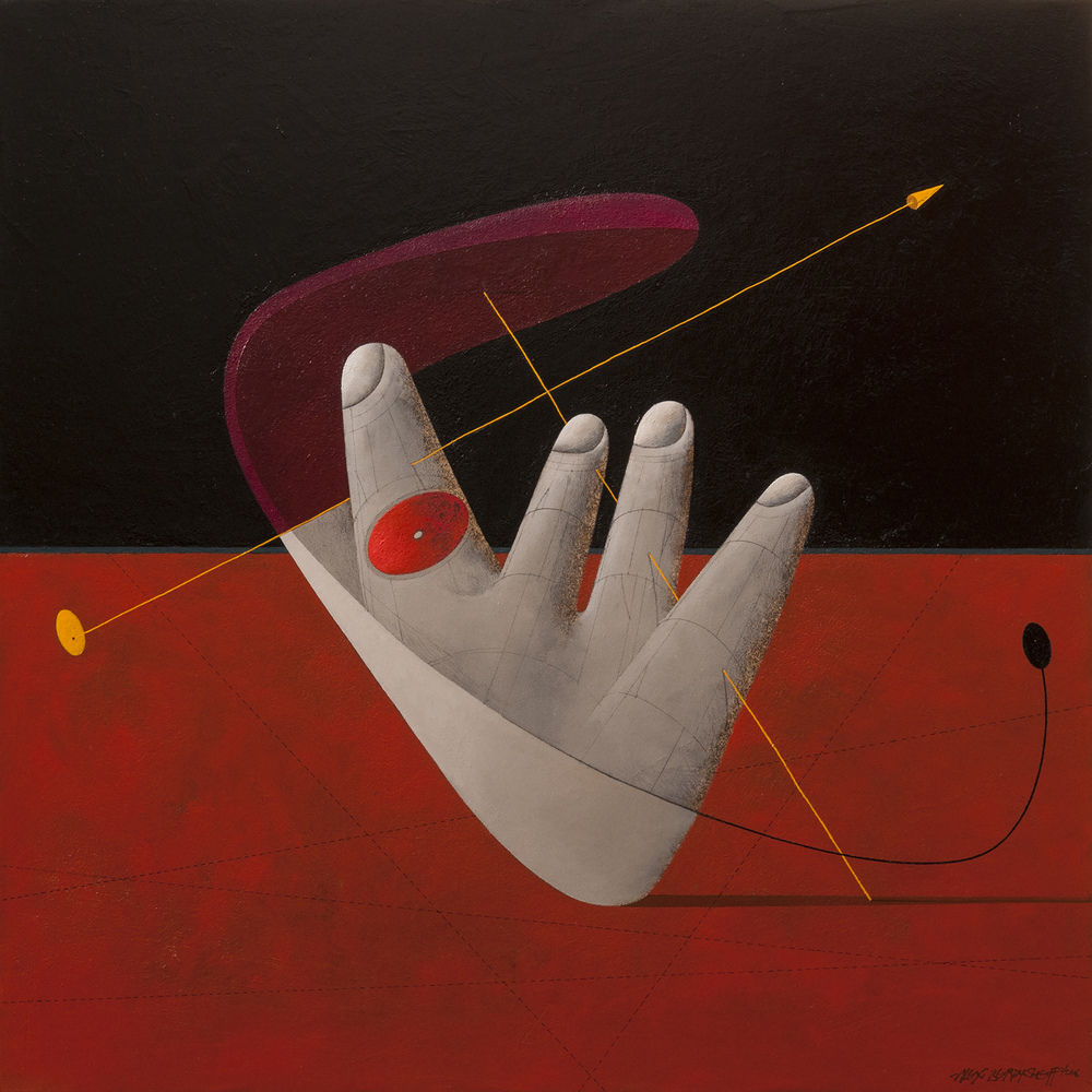 Martian, oil on canvas, 85x85cm