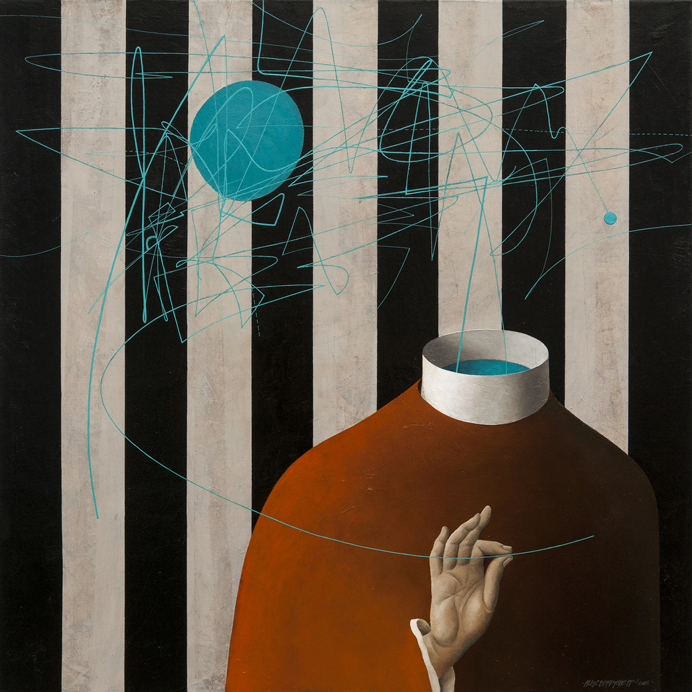 Thread, oil on canvas, 85x85cm
