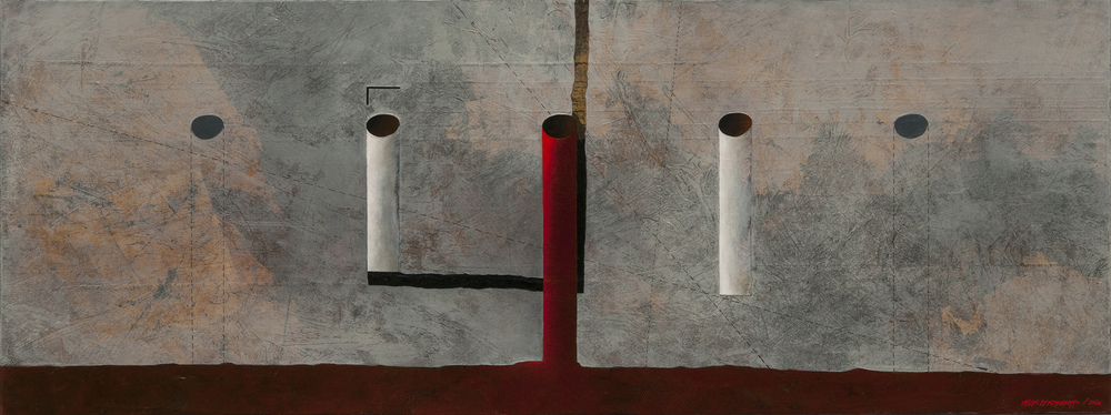 Illusion of Presence, oil on canvas, 45x120cm