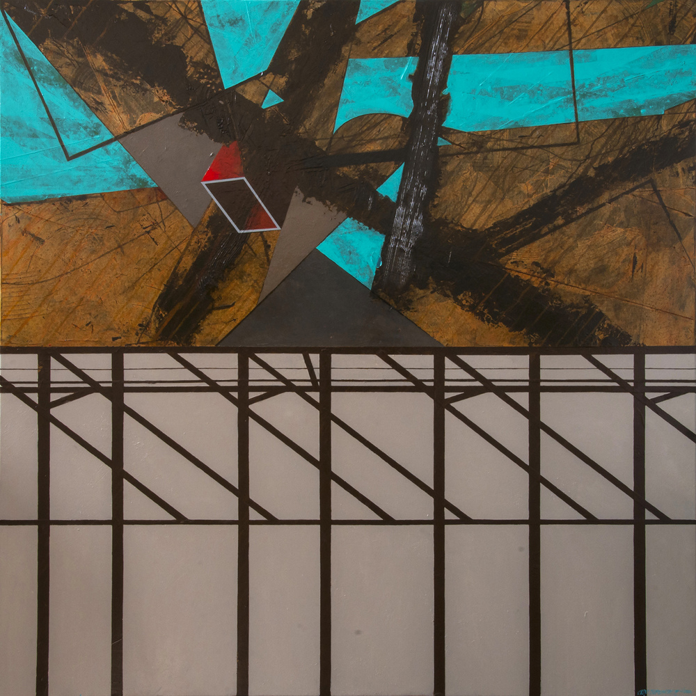 Deja Vu, oil on canvas, 150x150cm