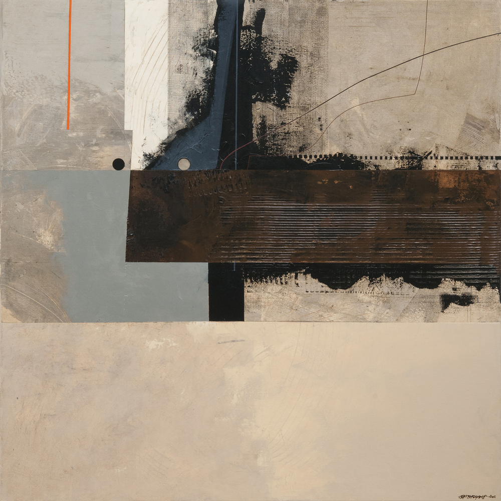 Intruder, oil on canvas, 120x120cm