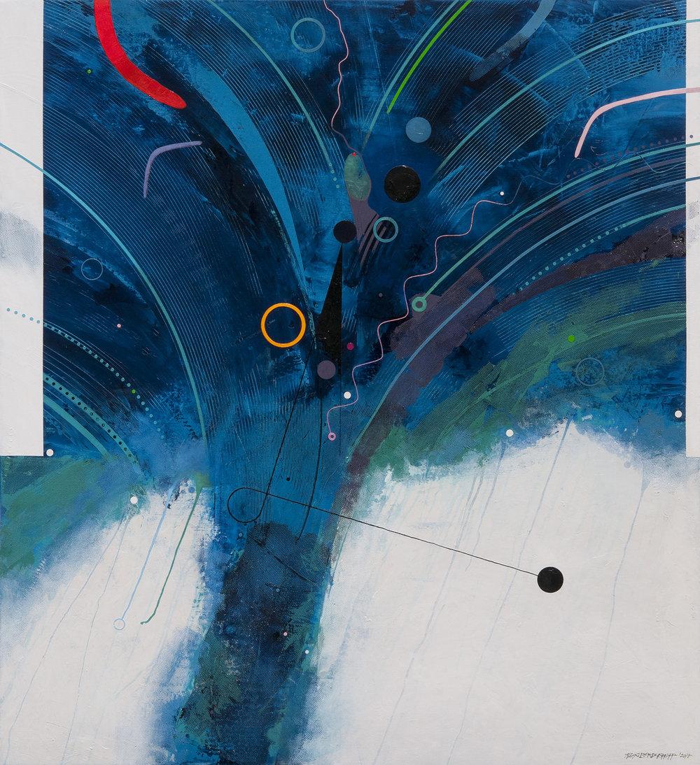 Wave, acrylic and oil on canvas, 120x110 cm, 2017