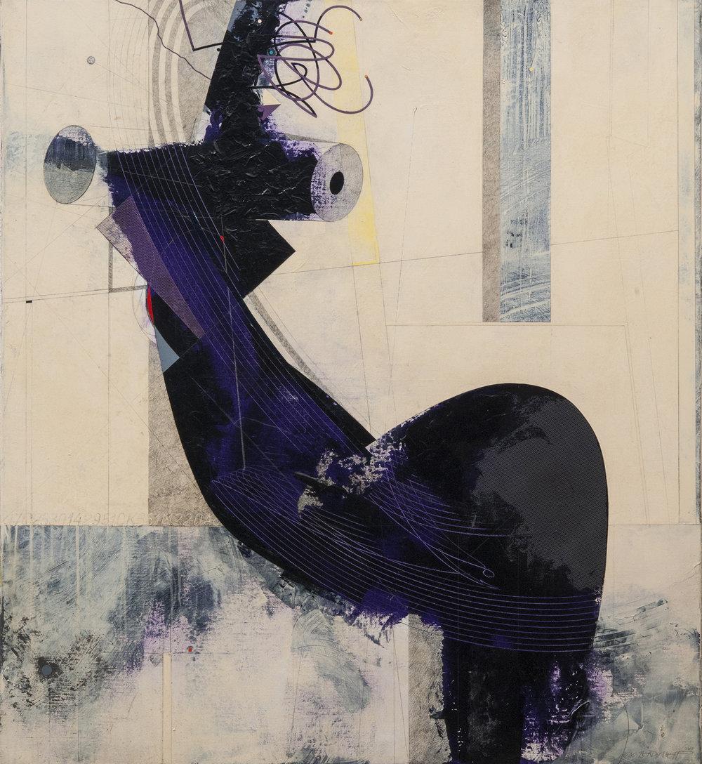 Sitting Figure, acrylic on canvas, 120x110 cm, 2018