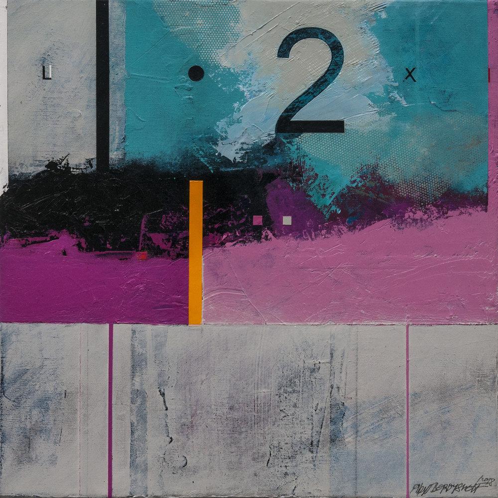 Zone II, acrylic on canvas, 46x46 cm, 2018