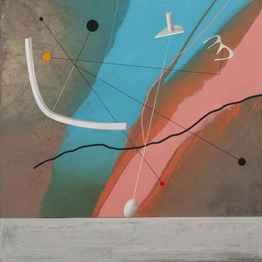 Celestial Dance, oil on canvas, 85x85 cm, 2018