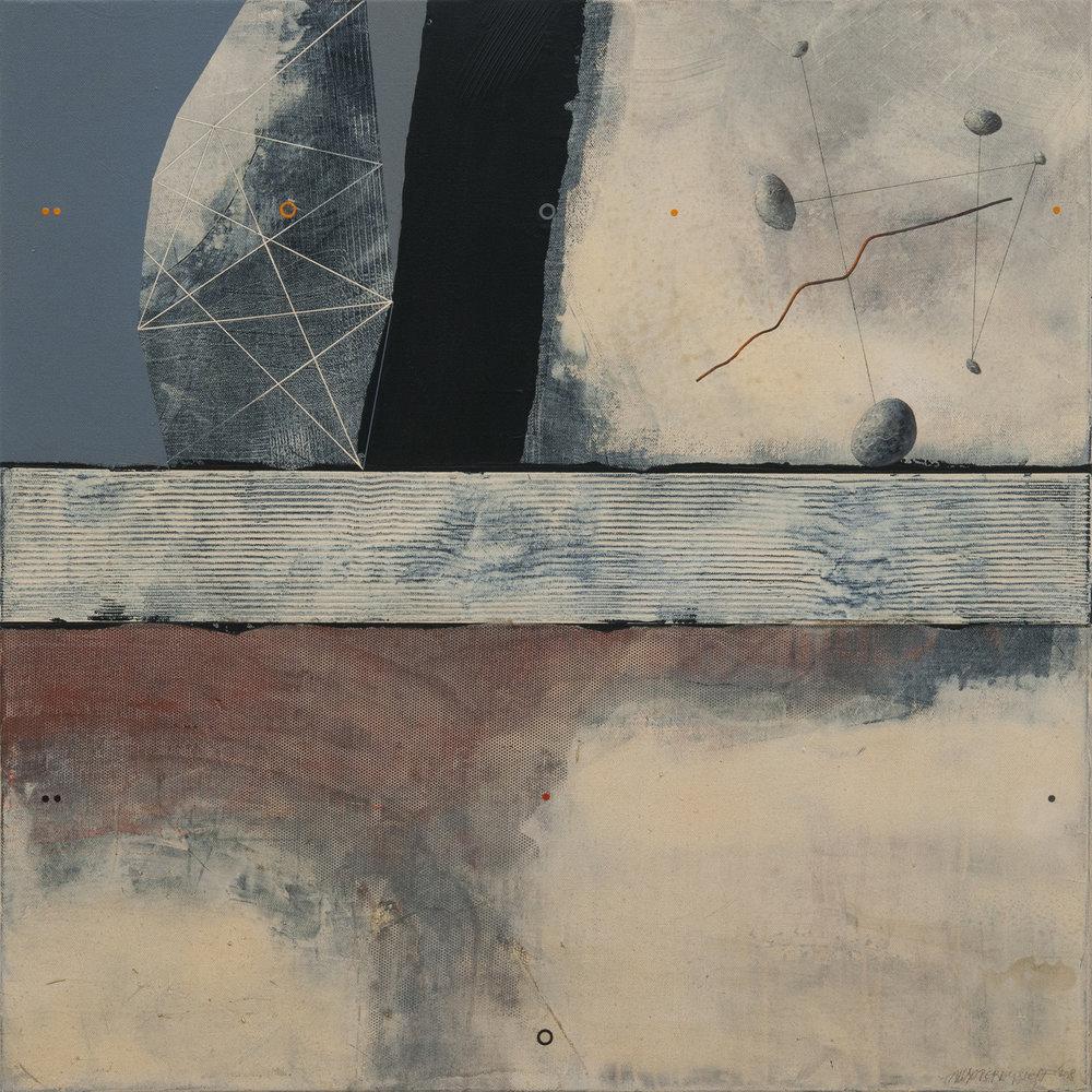 Border of Eternity, acrylic on canvas, 85x85 cm, 2018