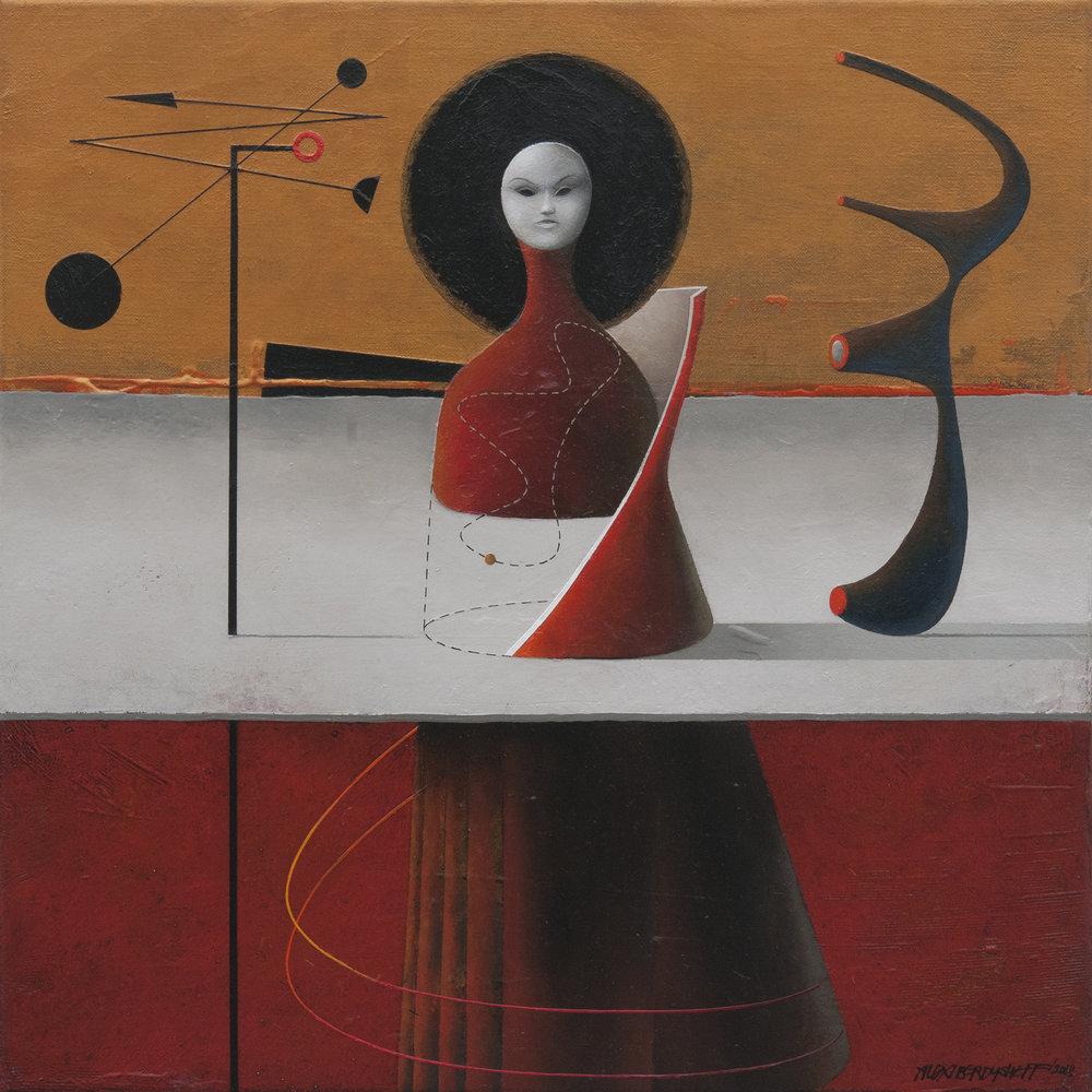 Magic, oil on canvas, 46x46 cm, 2018