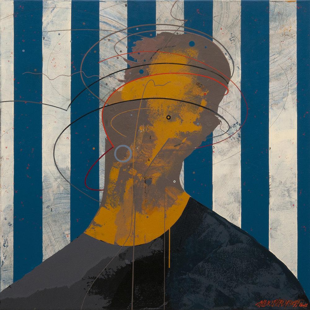 Obsession II, acrylic on canvas, 85x85 cm, 2018