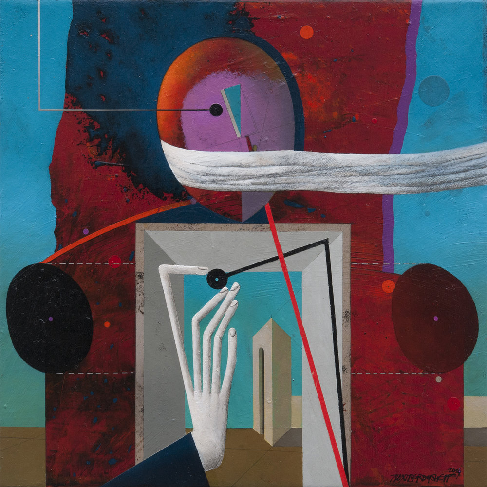 Portal, oil on canvas, 46x46 cm, 2018