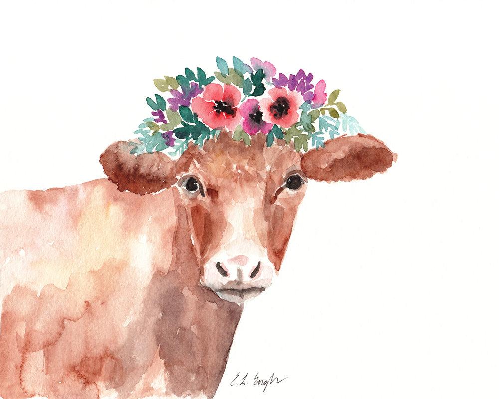 8x10 floral cow 2.jpg