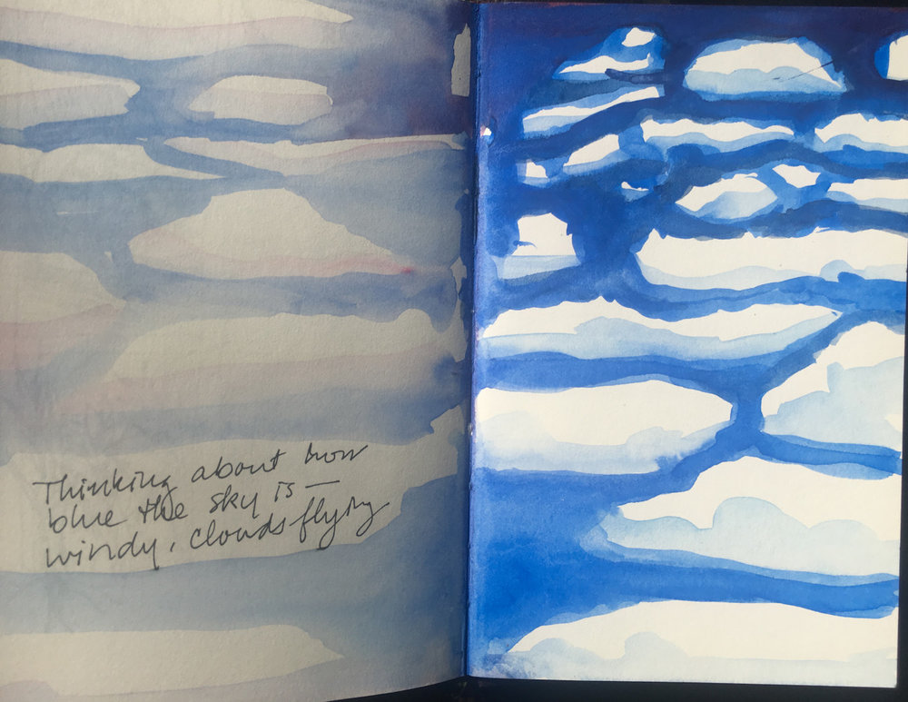 667 thinking blue skies  journal, wc ©beth vendryes williams