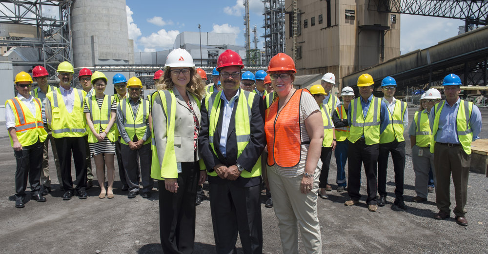 BASF and Linde joined representatives from Southern Company, Alabama Power, DOE, EPRI and the University of Illinois at the July 19 celebration and tour of the National Carbon Capture Center.