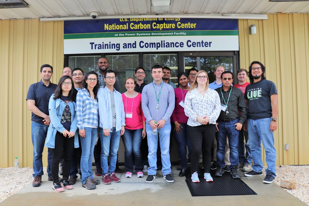 RECS participants visited the U.S. Department of Energy's National Carbon Capture Center in Wilsonville, Alabama, for a look at testing of next-generation carbon capture technologies.