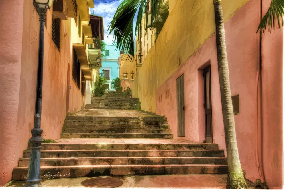 Staircase, Old San Juan, Puerto Rico