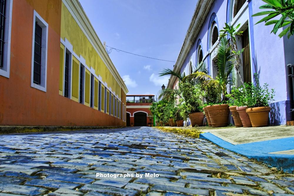 Blue Cobble Stones, San Juan, Puerto Rico