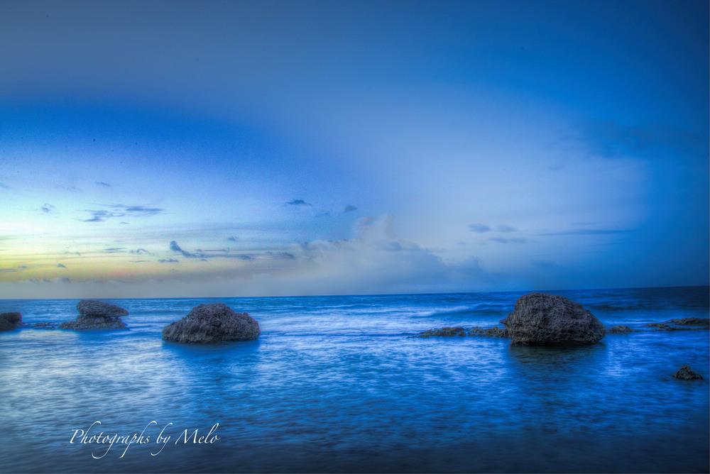 Puerto Rico seaside at night