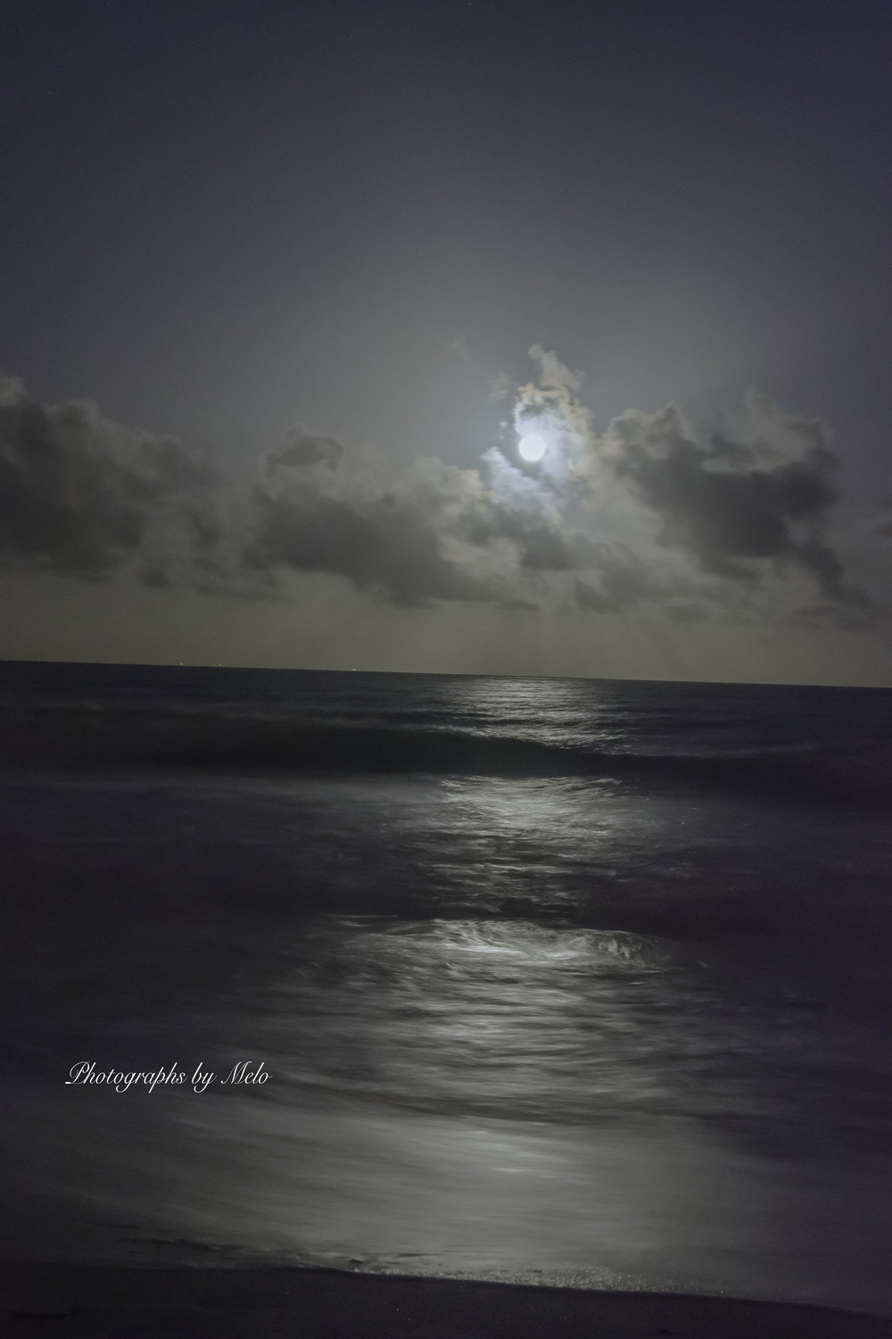Full Moon at Cocoa Beach, Florida