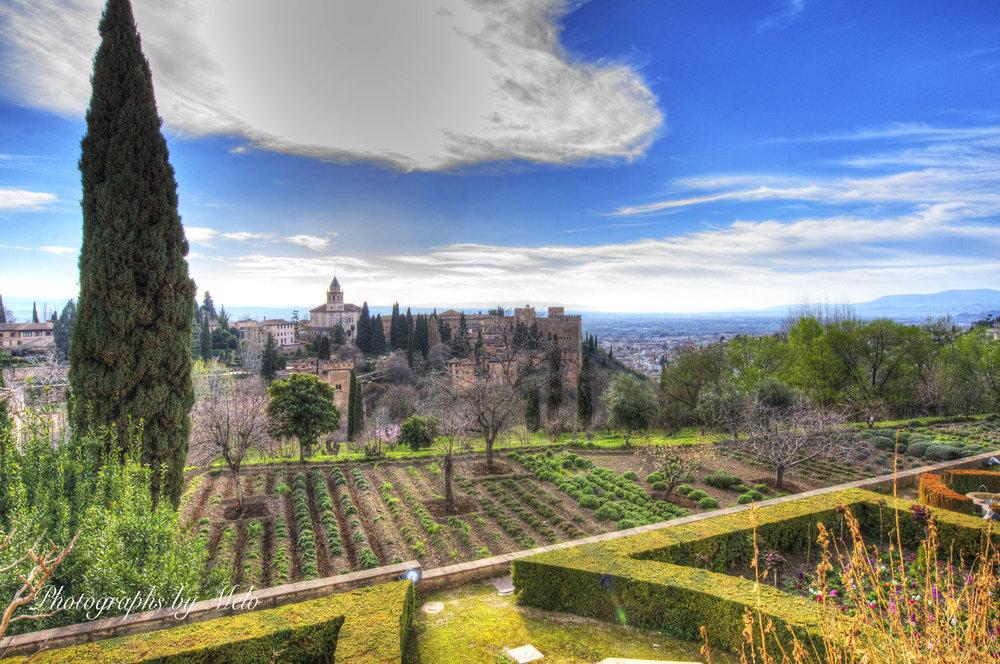 La Alhambra landscape, Granada
