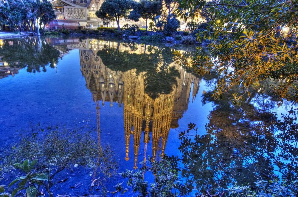 Reflection of La Sagrada Familia, Barcelona