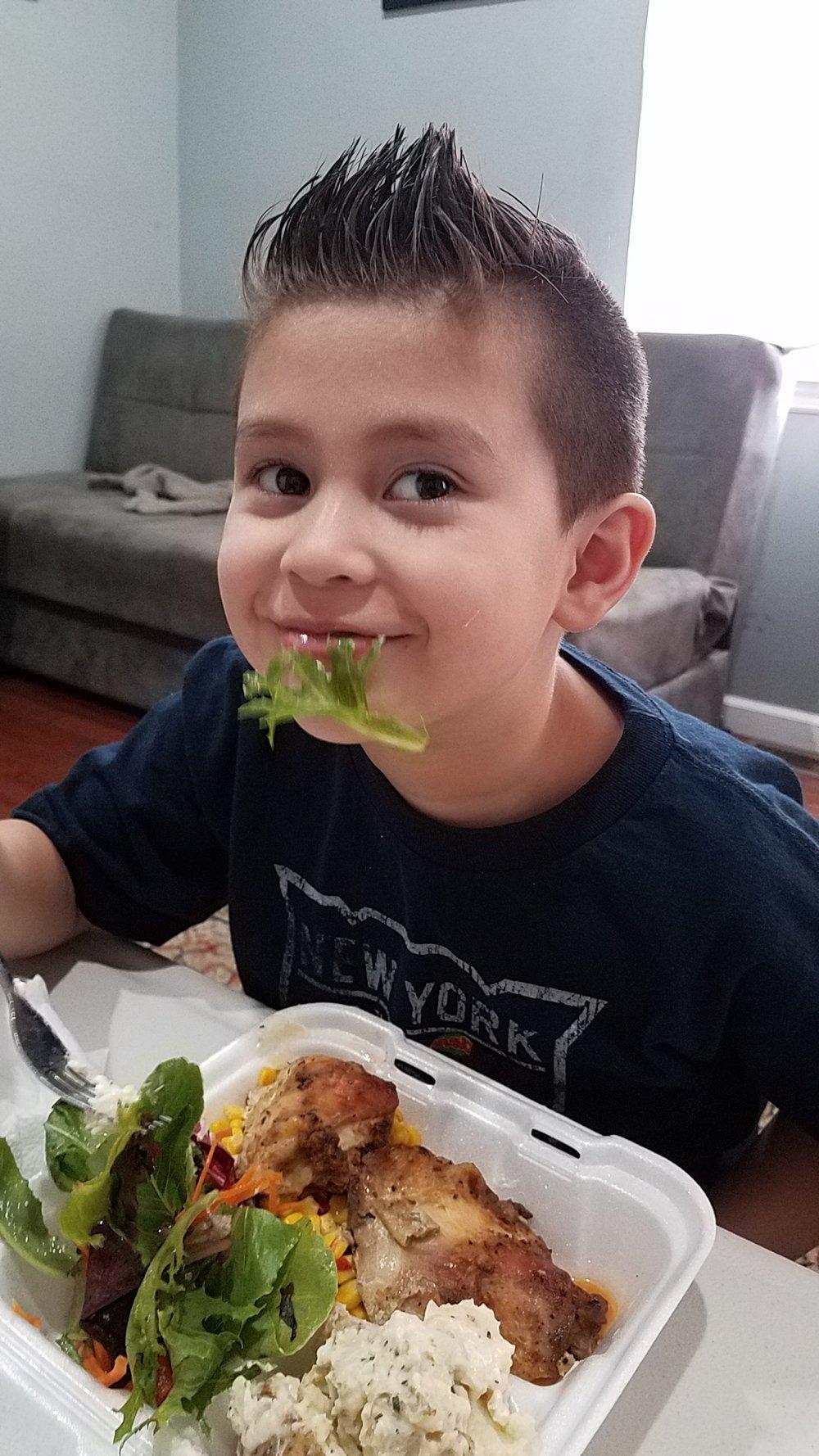 Julio loves salad!
