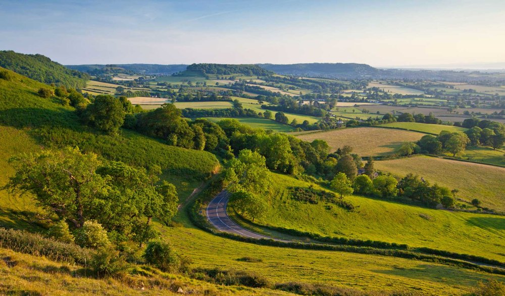 The beautiful Cotswolds.