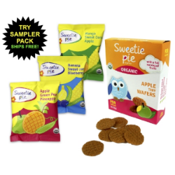 Try sweetie pie organic's sampler pack today for only $4.99. Give your infant or toddler the most nutritious snack on the market.