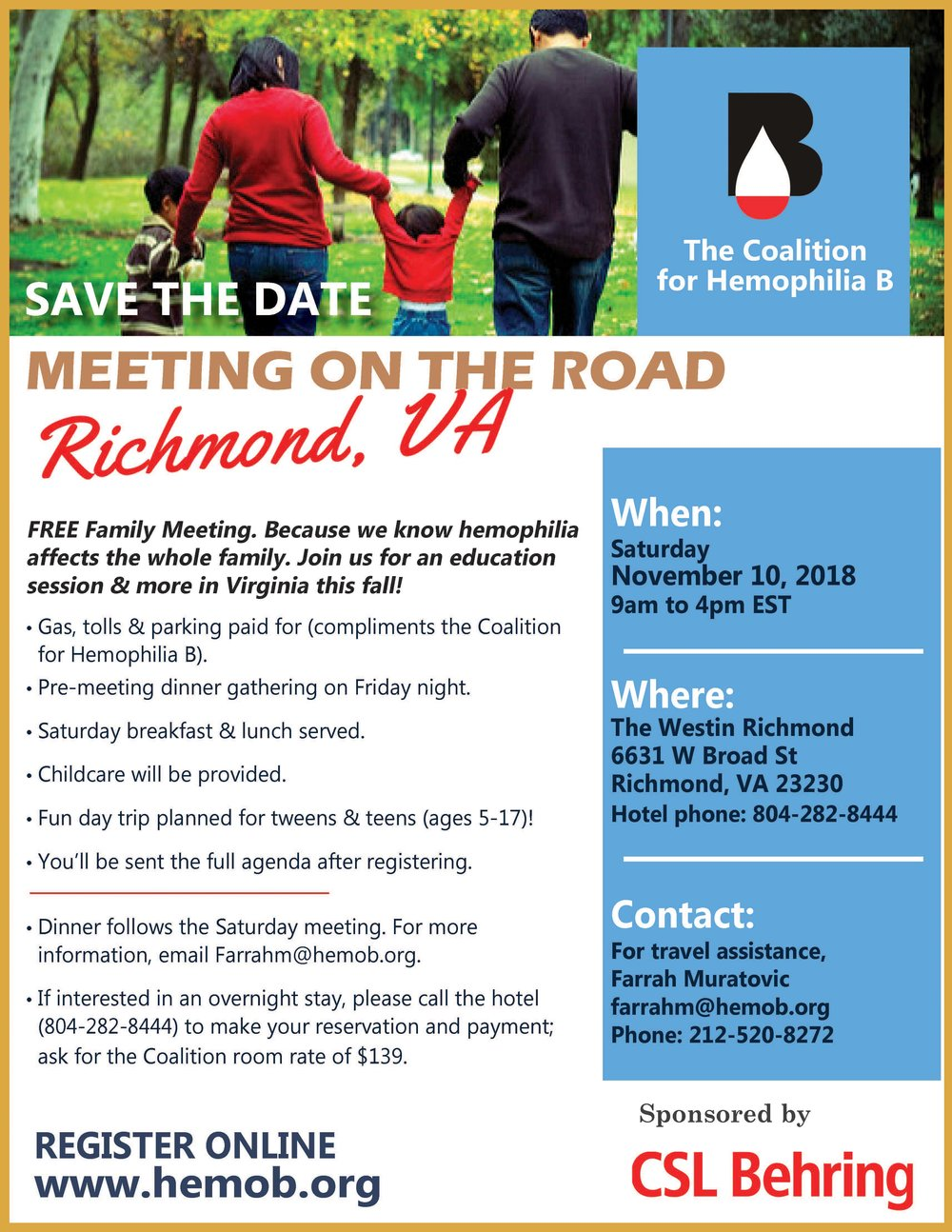 - Click the picture to download the flyer for our November meeting in Richmond.