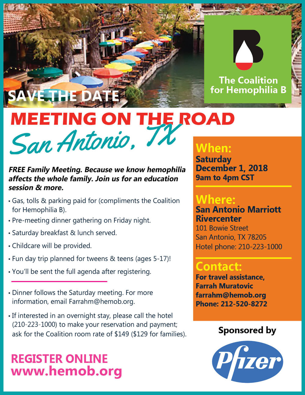 - CLICK the picture to download our official San Antonio meeting flyer.