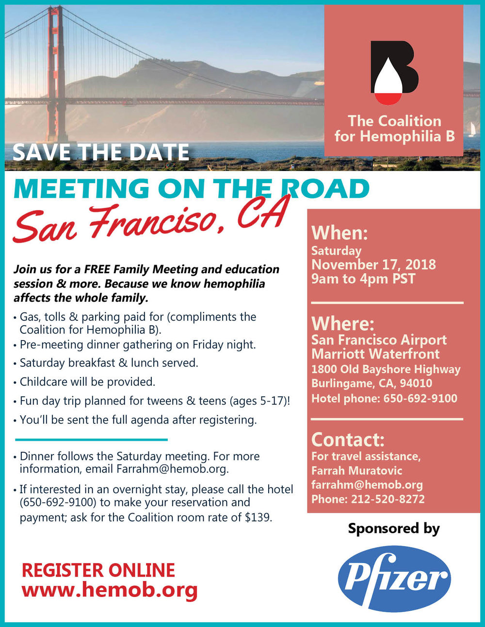 - Download our official San Francisco meeting flyer HERE