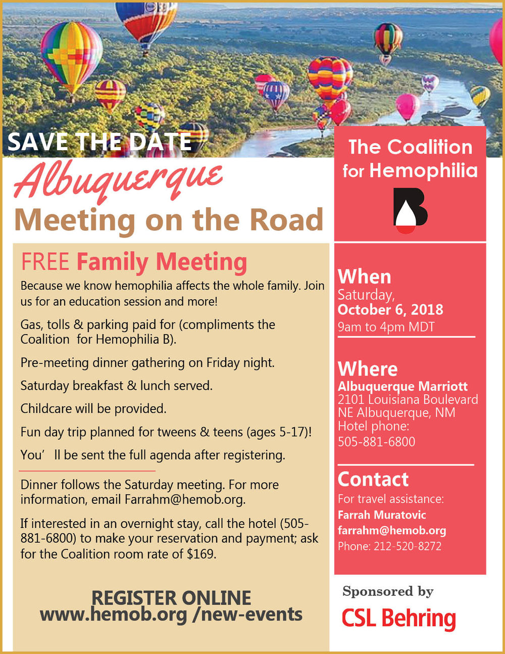 - CLICK HERE to download the official flyer for our family meeting in Albuquerque in October!