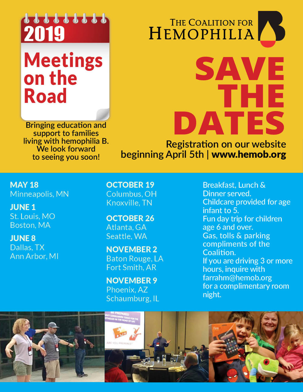 Download our 2019 Meetings Flyer