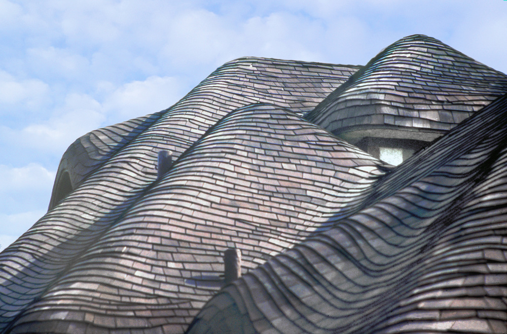 The wavy, undulating appearance of the Country Cottage Roof.