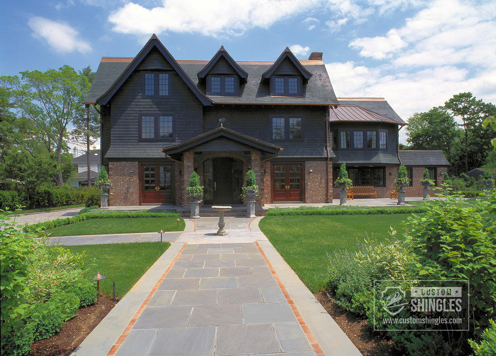 private residence fancy cutt dark shingles