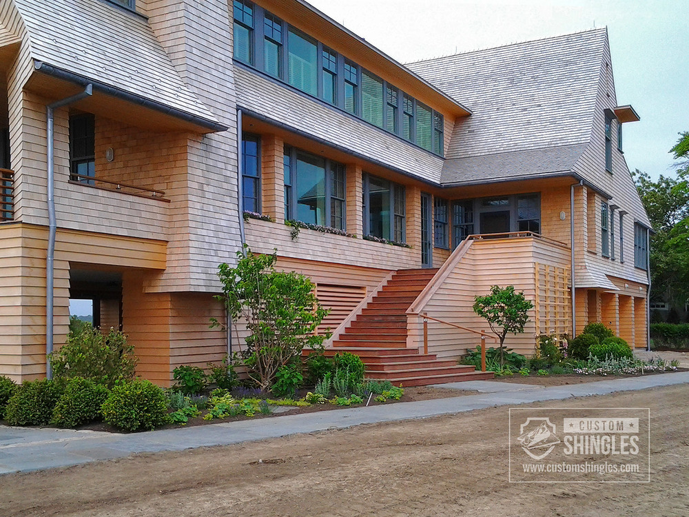 exterior natural cedar shakes