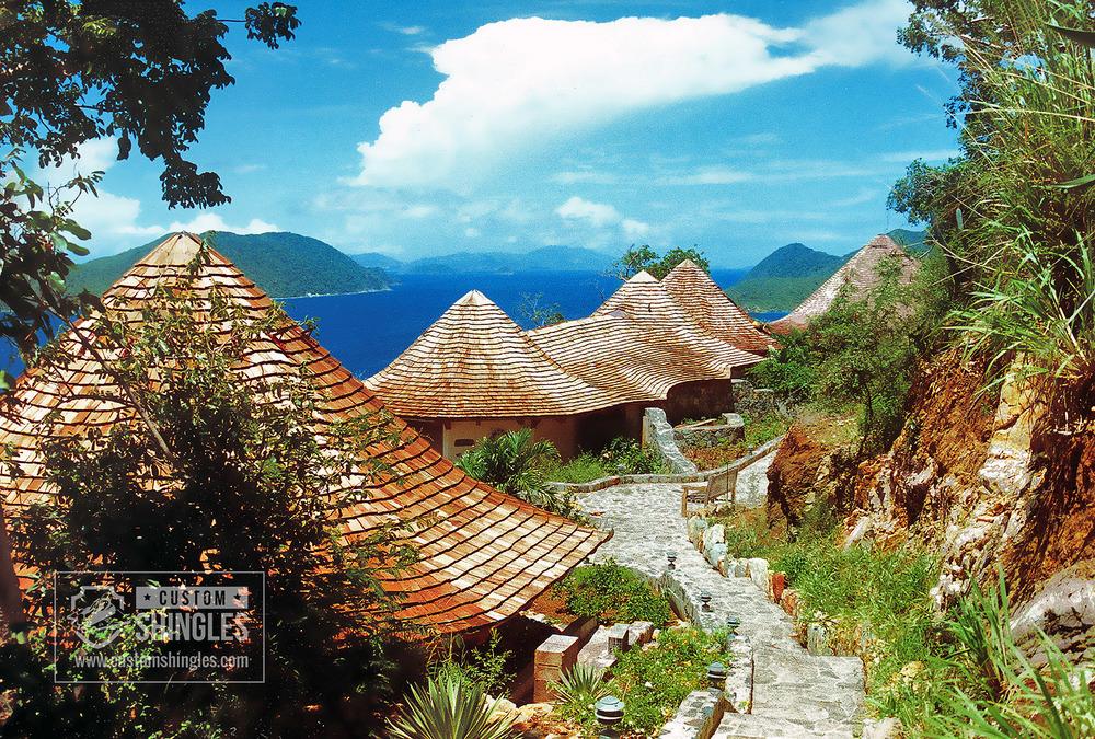 cedar shake roof in tropics
