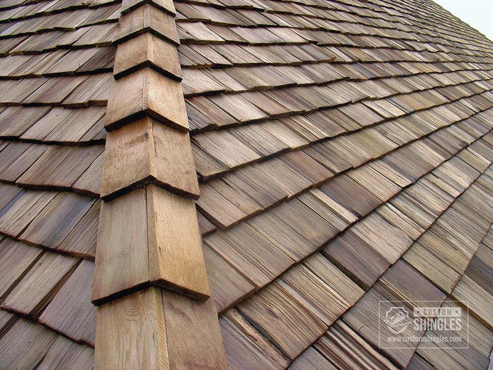 cedar shake roof corner