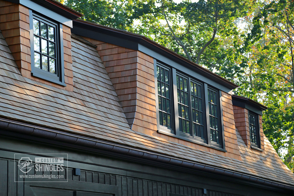 stained cedar shingles