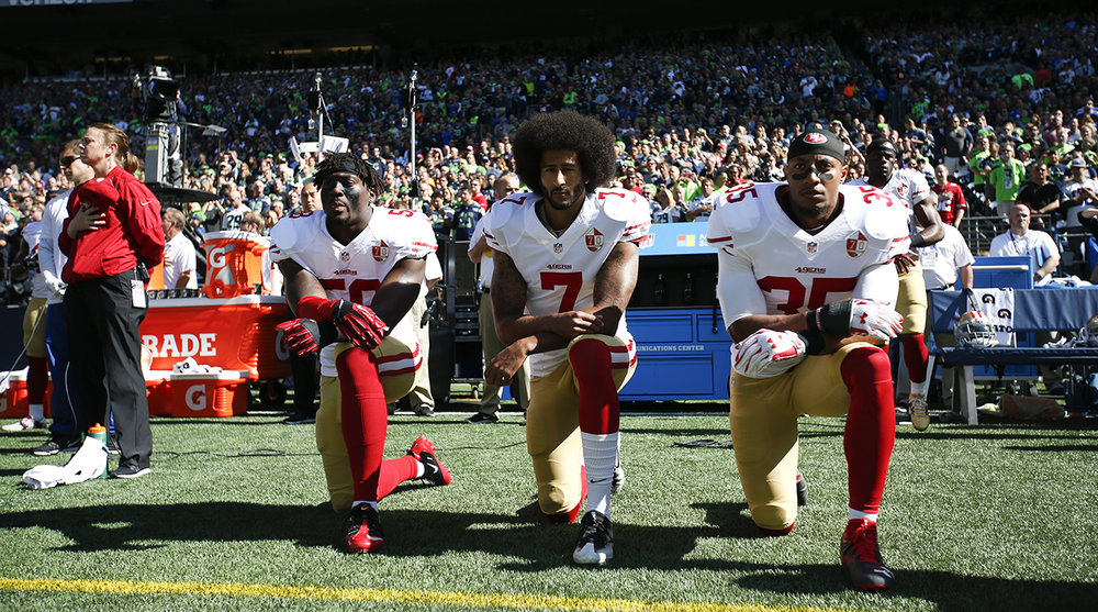 I'm sure Colin Kaepernick had the foresight to know it might pick up some momentum, but enough to get him blackballed from the league? Word?