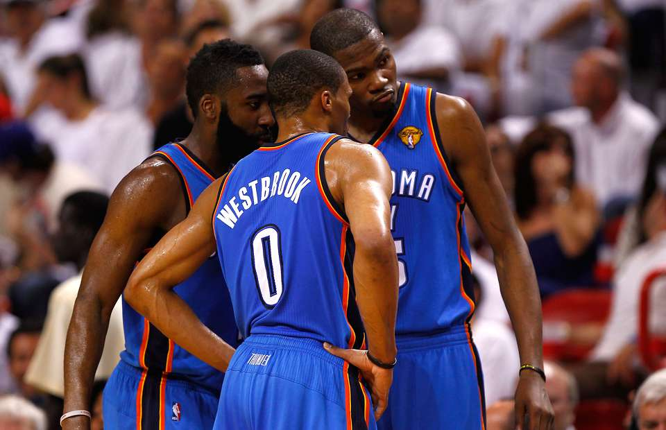 In hindsight, Harden likely served as the buffer to Westbrook and Durant — the guy equipped to bottle Russy's worst tendencies and maximize Kevin's best.