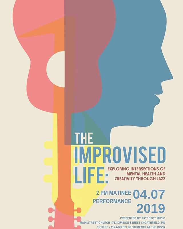 """Sam Miltich presents """"The Improvised Life: Exploring Intersections of Mental Health & Creativity through Jazz"""" @hot_spot_music. Sun 4/7 2pm-4pm. $6-$12  https://www.eventbrite.com/e/sam-miltich-presents-the-improvised-life-tickets-58861133234"""