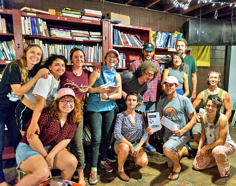 Juice crew volunteering at inside books project.