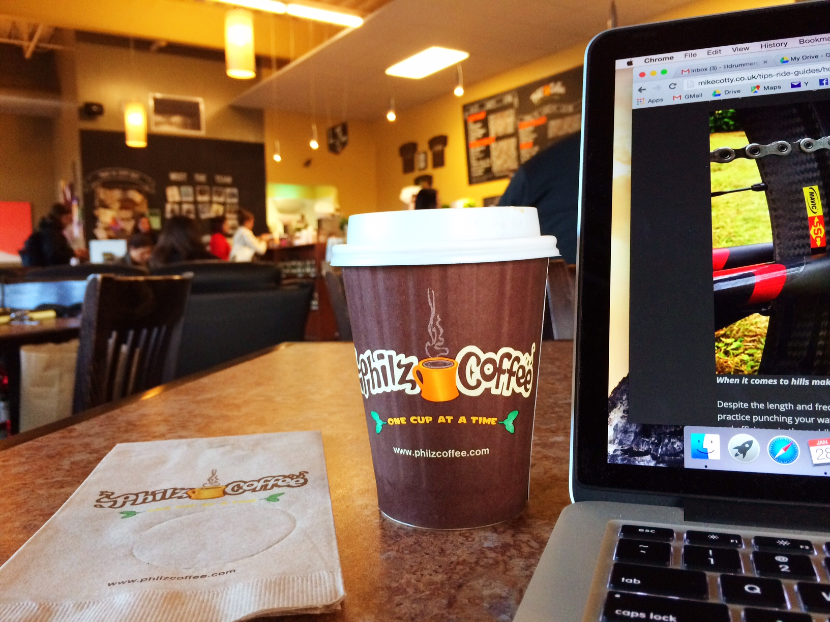 Writing at Philz