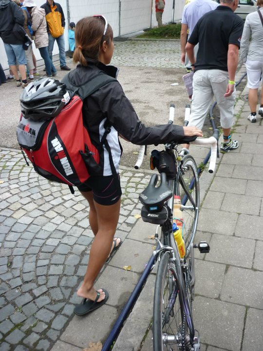 Dejected after being disqualified from completing my first Ironman triathlon in Regensburg, Germany