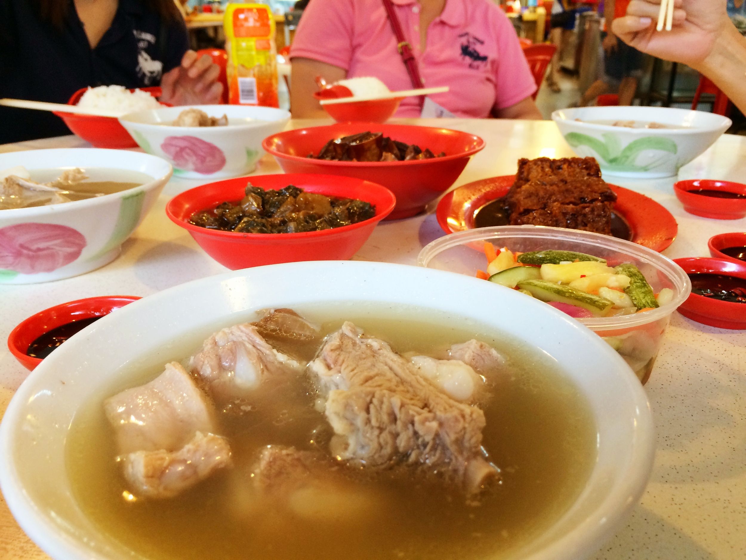 Bak kut teh (pork ribs in peppery soup): Hong Ji Claypot Bak Kut Teh: 19 Marsiling Lane, #01-329, Singapore 730019