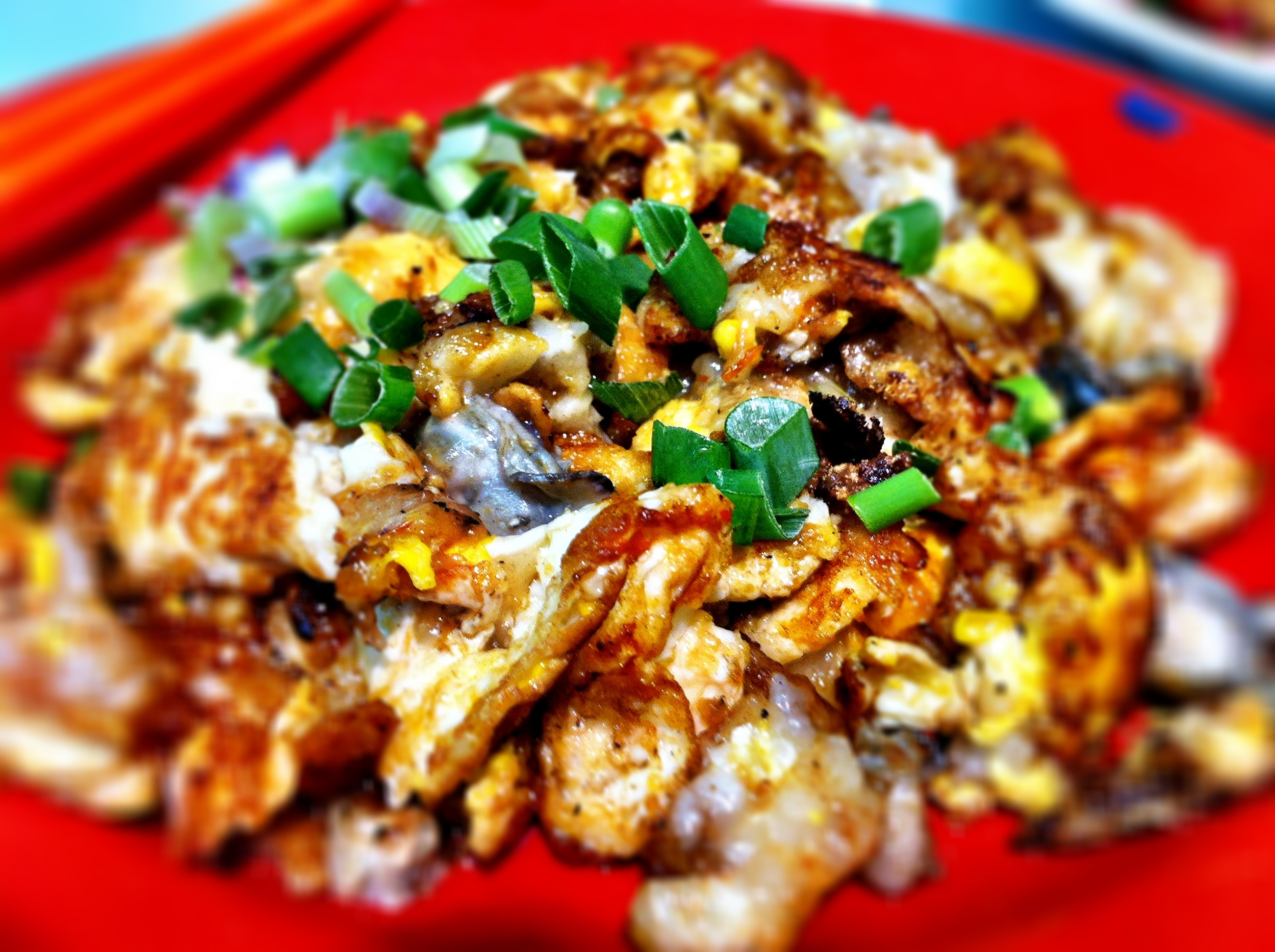 Oyster omelette: Shun Li Fried Oysters: Alexandra Village Food Centre, 120 Bukit Merah Lane 1, #01-78, Singapore 150120