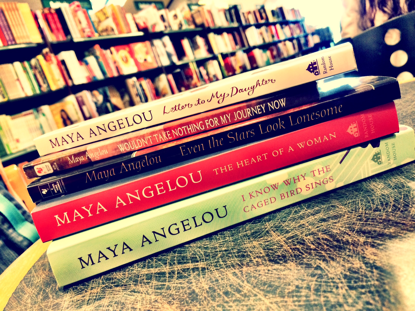 I have read every single book by Maya Angelou ever since I discovered her in 2005 - she taught me what it means to have a voice and let it sing.