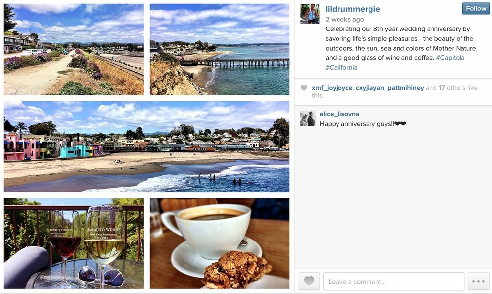May 19, 2015: Capitola, east of Santa Cruz